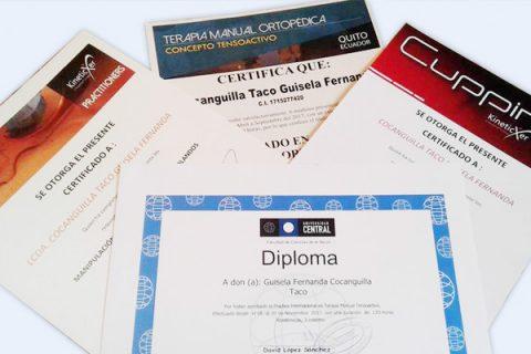 certificaciones, fisiomejorar en Sangolquí
