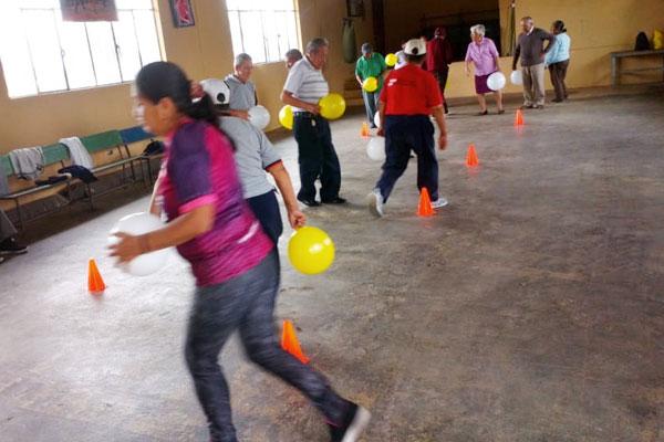 Ejercicios de coordinación motora para el adulto Mayor en Amaguaña