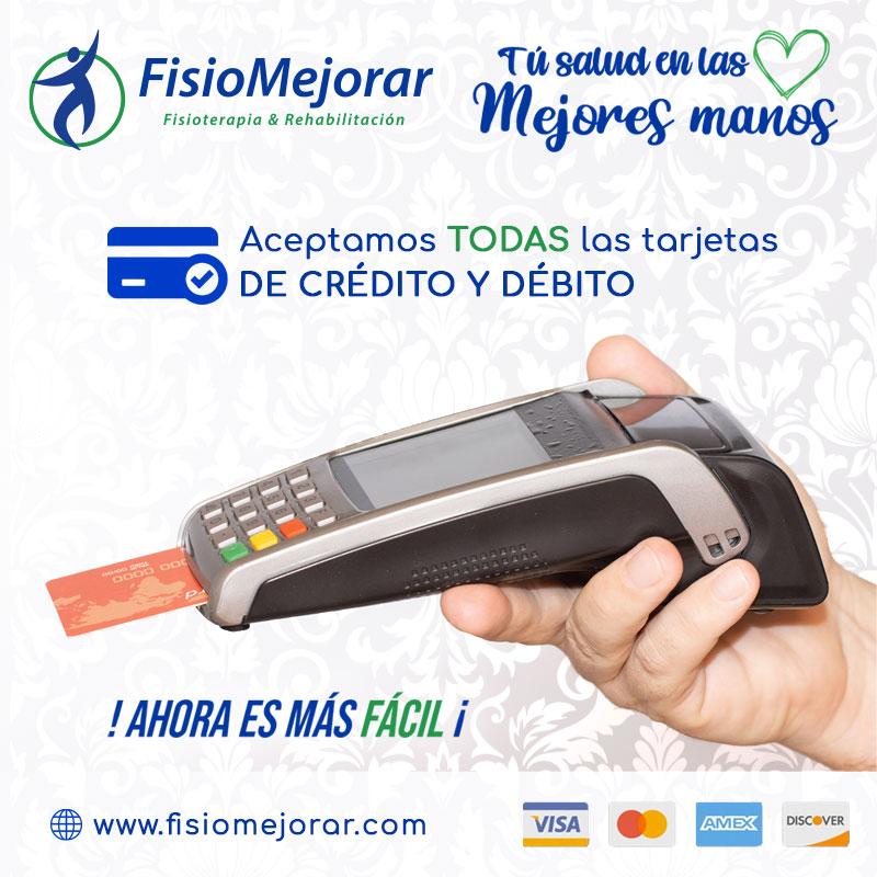 Paga con tarjeta - FisioMejorar Sangolquí