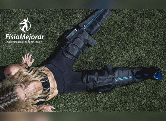 Tratamiento con botas compresivas para deportistas